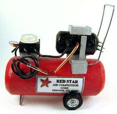 Dollhouse miniature air compressor