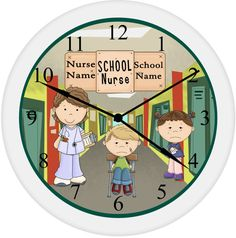 School Nurse Exclusive Personalized Appreciation Gift From Student With Name Custom Wall Clock Gift .