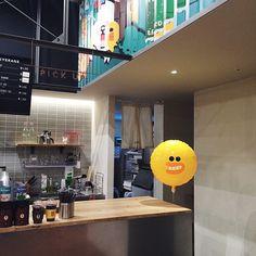 안뇽 귀여웟던 #카페 #일상#데일리 #가로수길 #외출 #라인스토어 #라인카페 #라인프렌즈스토어