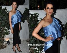 Kangana Ranaut in One Shoulder Sachin & Babi dress-PakeezaAnchal.com