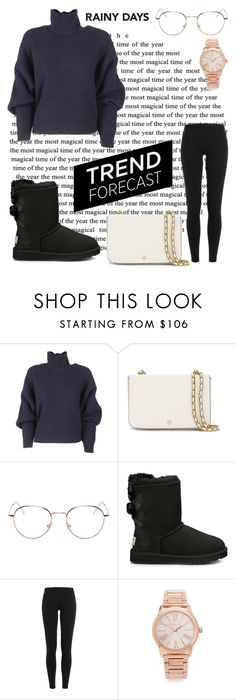 """""""Rainy Days"""" by xxjuliet ❤ liked on Polyvore featuring Balenciaga, Tory Burch, RetroSuperFuture, UGG Australia, Polo Ralph Lauren and Michael Kors"""