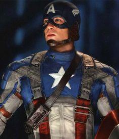 Captain America (Steve Rogers) portrayed by Chris Evans