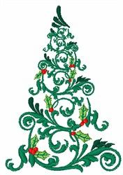 Embroidered Christmas tree - would look great on cloth napkins, a tablecloth, or a runner.