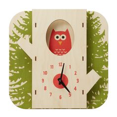 Tree Owl Clock - I think that I could diy this!