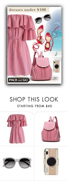 """""""Dress Contest"""" by sabine-promote ❤ liked on Polyvore featuring Chicwish, Ace and Kate Spade"""