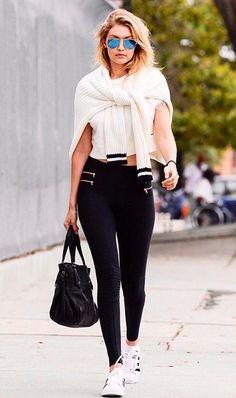 #LA #Uber #Casual #Black & #White #StreetStyle ~