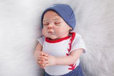 135.37$  Watch here - http://aliu99.worldwells.pw/go.php?t=32715689137 - 55cm Soft Silicone Reborn Baby Dolls Lifelike Baby Toy For Girls Sleeping Newborn Boy Baby-Reborn Birthday Gift Collectable Doll 135.37$