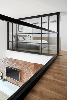 Loft Apartment by Dita Luarasi Abdiu « HomeAdore Loft House, House Rooms, Tiny House, Loft Design, Modern House Design, Design Design, Small Loft Apartments, Loft Spaces, Appartement Design