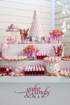 dessert bar by TinyCarmen (add monogrammed #candy. #diy $7.00 #printables. www.customweddingprintables.com)