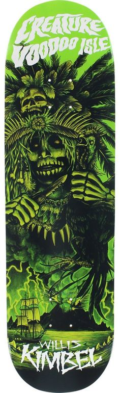 Creature Skateboards Willis Kimbel Voodoo Isle Skateboard Deck