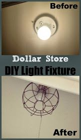 Two It Yourself: DIY Dollar Store 'Industrial' Light Fixture