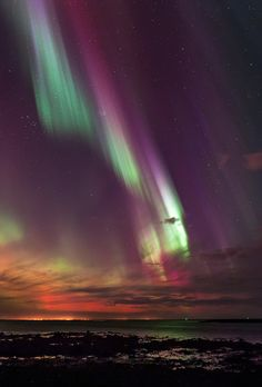 """birdsonqs: """"by Sigurgeir Sigurðsson """" Alaska Northern Lights, Cool Pictures, Cool Photos, Iceland Photos, Natural Scenery, Landscape Photos, Amazing Nature, Night Skies, Clouds"""