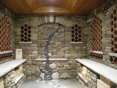 Dry Stone Wine Cellar by Eblacker & Stone