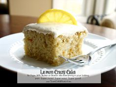 Grandma's Prized Lemon Crazy Cake is an easy cake recipe that dates back to the Depression Era. Believe it or not, but this lemon dessert recipe doesn't call for any eggs, milk, or butter. Even though it's lacking a few ingredients, this cake is definitely not lacking in taste.