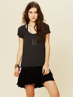 Free People Tied To You Tee at Free People Clothing Boutique