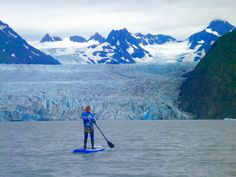 """Find your Glacier""...and paddle to it. #FreeSpiritBikeJacket #TrueNorthKayakAdventures http://www.freespiritwear.com/pages/awesomewindjacket.htm    http://freespiritwear.com/blog/?p=1561"