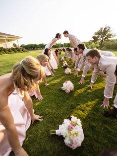 football inspired wedding photo