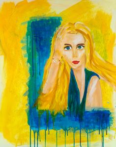 """""""Blondie""""  Abstract Acrylic on Canvas (30"""" x 24"""") **"""