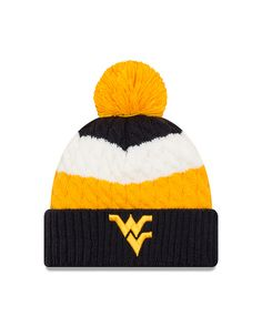 New Era WVU Layered Up Knit Cuff - Women s d464e2e46f1c