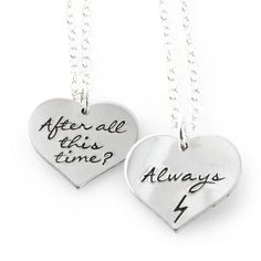 "Harry Potter ""Always"" Friendship Necklace Set - Spiffing Jewelry"