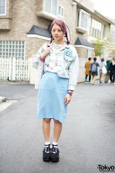 Kinji Gingham Skirt