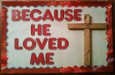 Church Bulletin Board Ideas for Spring | Easter bulletin board | Church - decorating ideas | Pinterest