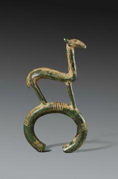 "Burkina Faso / Ivory Coast | Bracelet; copper alloy. Period: Early voltaic || David Serra; Tribal Art Society Catalogue Aug '15 ""Parcours des Mondes"""