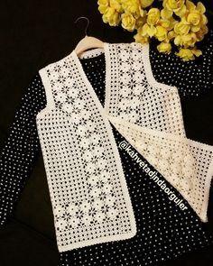 Likes, 44 Comments - Fat Tunisian Crochet, Filet Crochet, Crochet Motif, Crochet Designs, Crochet Stitches, Crochet Patterns, Crochet Hot Pads, Crochet Coat, Crochet Jacket