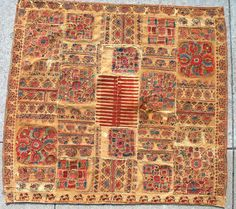 Originally described on Ebay as 18th/19th Century Ottoman Silk Coverlet Silk (sofreh - table cover), a fellow Pinterest user has sent a correction, that this is Bulgarian work from the region of Thrace.