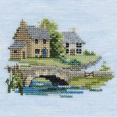 Derwentwater Designs Minuets Counte c d Cross Stitch Kit Brookside Cross Stitch House, Small Cross Stitch, Cute Cross Stitch, Cross Stitch Designs, Cross Stitch Patterns, Hand Embroidery Stitches, Cross Stitch Embroidery, Cross Stitching, Cross Stitch Bookmarks