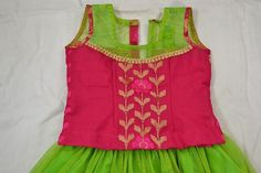 The Lehenga Choli is the favorite for kids to worn during festivals, wedding or any special events. You can make Lehenga Choli with your tasteful shading Choli Designs, Lehenga Designs, Blouse Designs, Dress Sewing Tutorials, Sewing Basics, Sewing Projects, Kids Lehenga Choli, Ghagra Choli, Choli Pattern