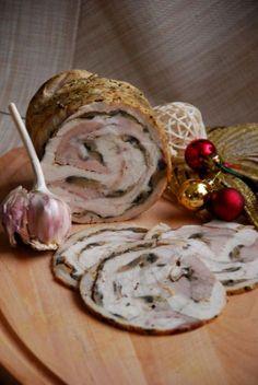 Rolada kanapkowa z szynkowara Home Made Sausage, Polish Recipes, Polish Food, Kielbasa, Smoking Meat, Charcuterie, I Foods, Good Food, Food And Drink