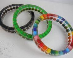 resin bangle bracelet – Etsy