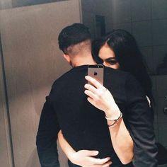 hidden face couples selfie
