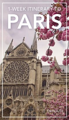 One Week Itinerary to Paris, France #travel #guide