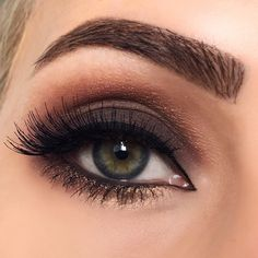 Matte brown makeup
