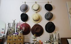 beautybitten | a personal style & beauty blog : DIY Hanging Hat Organizer