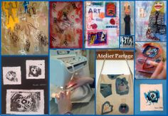 Creations and art work by 13 years old girl at Atelier Partage