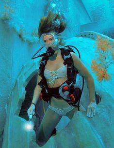 Boat Girl, Women's Diving, Mermaid Barbie, Underwater Pictures, Scuba Girl, Womens Wetsuit, Celebrity Bikini, Girls Swimming, Underwater World