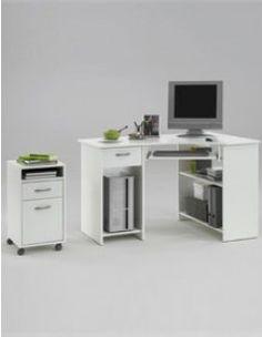Zito bureau angle reversible 136x137cm blanc achat - Bureau d angle blanc ikea ...