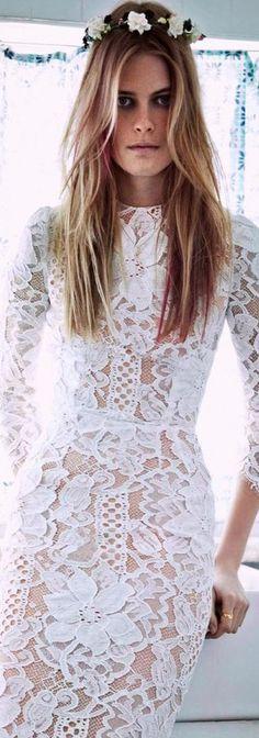 Dolce & Gabbana lace wedding dress bohemian chic