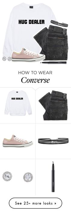 """"""""""" by weirdestgirlever on Polyvore featuring Minga, Nudie Jeans Co., Converse and MAC Cosmetics"""