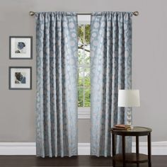 Lush Decor Orbit Window Treatment Curtain Panel, 38 by 84-Inch, Blue, Set of 2 by Lush Decor, http://www.amazon.com/dp/B00CAO7INQ/ref=cm_sw_r_pi_dp_69G6rb0N02CRT  perfect for the living room