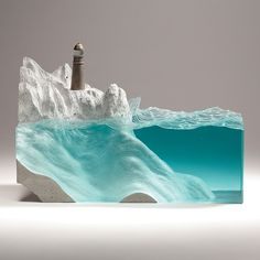 New Layered Glass Ocean Sculptures Capture the Spirit of the Sea