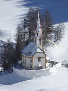 Parish Church of St. Nicholas, Oberberg, Tyrol, Austria. Perfect to visit with our #Gloryfy sunglasses!