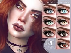 The Sims Resource: Fire Eyes N99 by Pralinesims • Sims 4 Downloads