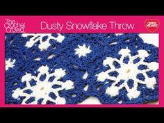 Dusty Snowflake Throw Crochet Pattern | Red Heart