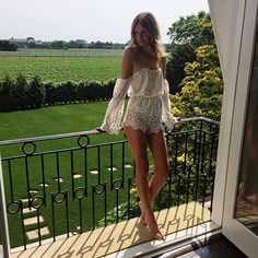 Morning light in The Hamptons. Playsuit from @revolveclothing #REVOLVEinthehamptons  by tuulavintage
