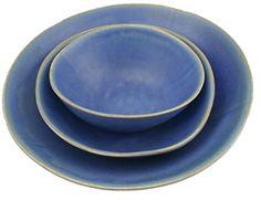 Christiane Perrochon Hand Formed Stoneware Bowl Large Blue
