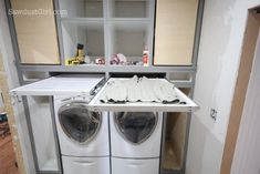 """Visit our web site for additional info on """"laundry room storage diy"""". It is a great place for more information. Laundry Room Tables, Laundry Room Doors, Laundry Room Cabinets, Laundry Room Signs, Laundry Room Organization, Basement Laundry, Small Laundry Space, Small Utility Room, Small Spaces"""